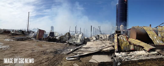Manitoba dairy farm fire in Giroux