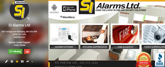 SI Alarms Ltd Google Plus and Local Page